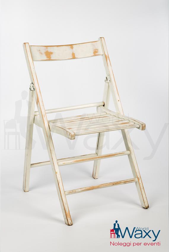 Sedie In Legno Laccate Bianco.Sedie Pieghevole In Legno Laccato Bianco