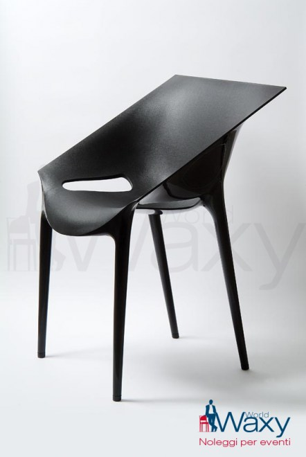 sedia Kartell mod. Dr. Yes in polipropilene modificato colorato in massa nero